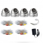 SANNCE C8048VDS 800TVL Night Vision Waterproof Dome CCTV Cameras Kit