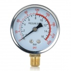 Air / Water Pressure Gauge - Black + Silver