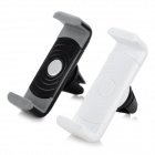 360' Rotary Car Air Conditioning Outlet Mount Holder for 5.6~7.4cm Phones - Black + White (2pcs)