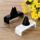 360' Rotary Car Air Outlet Mounts for IPHONE 5S - Black + White (2pcs)