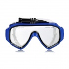 Swimming Diving Face Mask Goggles w/ Camera Mount Holder for GoPro - Blue + Transprarent