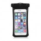 "Protective Waterproof PVC Case Pouch w/ Strap / Armband / Carabiner for IPHONE 6 PLUS 5.5"" - Black"