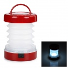 Folding Retractable 5-LED 8lm 2-Mode White Light Outdoor Lantern - White + Dark Red (3 x AAA)