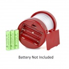 5-LED 8lm 2-Mode White Light Lantern - White + Dark Red (3 * AAA)