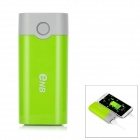 ENB 2 x 18650 Li-ion Battery Mobile Power Bank - Green + Grey