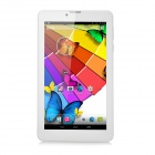 "7"" TFT Quad-Core Android 4.4 TD-SCDMA 3G Tablet PC w/ Dual-SIM, 8GB ROM, BT - White + Silver"