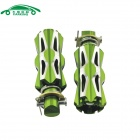 CARKING Universal Aluminum Alloy Motorcycle Rear Back Pedals - Green