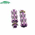 Universal Aluminum Alloy Motorcycle Rear Back Pedals - Purple