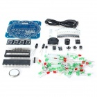 ZnDiy-BRY DS1302 51 MCU Learning Board LED Electronic Clock Kit for DIY - Blue
