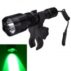 RichFire SF-76C XP-E R3 300lm Green LED Flashlight Kit w/ Mount / Pressure Switch - Black (18650)