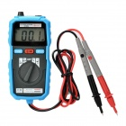 "BSIDE ADM04 Mini 1.8"" LCD Auto AC / DC Voltage / Current Digital Multimeter - Black + Blue (2 x AAA)"