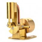 Mini Brass Single Cylinder Shaft Steam Engine - Golden