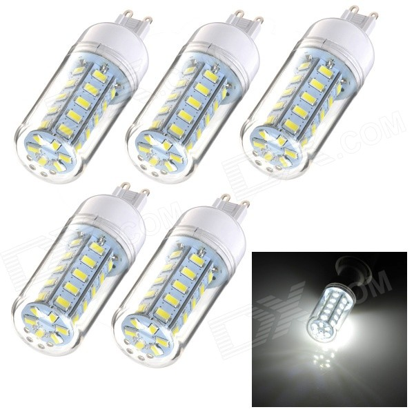 JRLED G9 7W LED Corn Lamper Cold Hvit 500lm SMD 5730 (220 ~ 240V / 5pcs)
