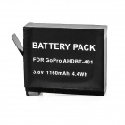Replacement 3.8V 930mAh Li-ion Battery for GoPro Hero 4  - Black