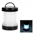 Folding Retractable 5-LED 8lm 2-Mode White Light Outdoor Lantern - White + Black (3 x AAA)