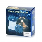 5-LED 8lm 2-Mode White Light Outdoor Lantern - White + Black (3 * AAA)