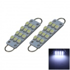 Rigid Loop Bulbs 1W 80lm White 44mm 211-2 578 12-SMD LED Door Reading Lights ( 2 PCS / DC 12V )
