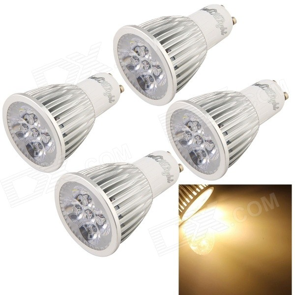 YouOKLight GU10 5W 3500K 480lm 5-LED Warm White Bulb (85~265V / 4PCS)