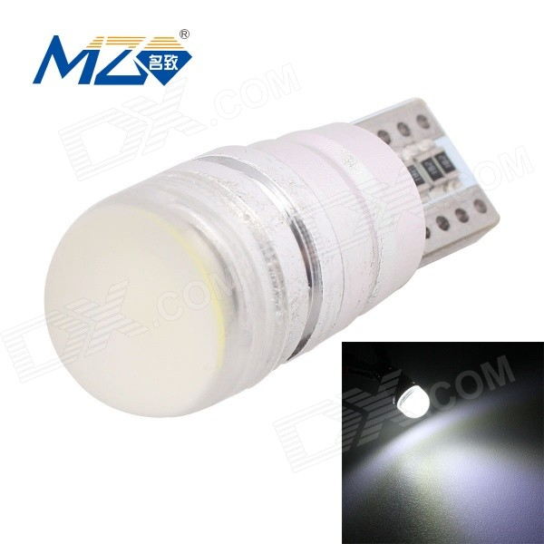 MZ T10 1.5W 90lm COB Canbus Decode White Light Car Lamp (12~18V)Tail Lights<br>Color BINWhite FloodModelT10-COB-1.5WQuantity1 DX.PCM.Model.AttributeModel.UnitMaterialAluminumForm ColorSilverEmitter TypeCOBChip BrandOthersChip TypeCOBTotal Emitters1PowerOthers,1.5WColor Temperature6500 DX.PCM.Model.AttributeModel.UnitTheoretical Lumens98 DX.PCM.Model.AttributeModel.UnitActual Lumens90 DX.PCM.Model.AttributeModel.UnitRate Voltage12~18VWaterproof FunctionNoConnector TypeT10ApplicationClearance lampPacking List1 x LED Bulb<br>