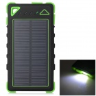 "S-What ""7500mAh"" Dual USB Solar Powered Li-polymer Battery Rugged Mobile Power Bank - Green + Black"