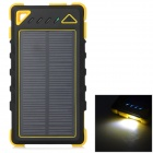 S-What 7500mAh Dual USB Solar Powered Li-polymer Battery Rugged Mobile Power - Yellow + Black