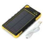 S-What 7500mAh Battery Dual USB Solar Power Bank - Yellow + Black
