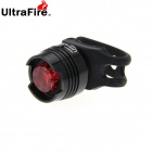 UltraFire LED 2.6lm 625nm 3-Mode Red Light Bike Tail Safety Light - Black (2 x CR2032)