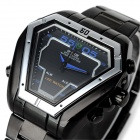 WEIDE WH-1102 Stainless Steel Digital & Analog LED Watch - Black