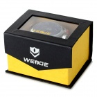 WEIDE WH2309 Men's Stainless Steel Quartz LED Wrist Watch - Black