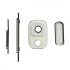 Replacement Power Switch + Volume + Home Button + Lens Cover for Samsung Note 3 / N900 - White