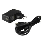 EU Plug 5V / 2A Adapter w/ USB Switch Cable for Raspberry Pi & Phone