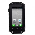 "J5 Waterproof Android 4.2 Dual Core MT6572 WCDMA Phone w/ 2.4"", 3.0MP, Wi-Fi, TF - Black"