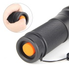 UltraFire 878 XML T6 5-Mode 900lm White LED Zooming Flashlight - Black