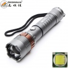 ZHISHUNJIA Z10-T6 XM-L2 T6 1-LED 900lm 5-Mode White Zooming Flashlight - Grey (1 x 18650 / 3 x AAA)