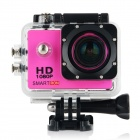 "Smartron 2.0"" TFT 170' Wide-Angle FHD 1080P Waterproof Sports Digital Video Camera - Black + Pink"