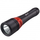 RichFire SF-925 XM-L T6 5-Mode 800lm White Light LED Diving Flashlight - Black + Red (2 x 26650)