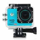 "Smartron 2.0"" TFT 170' Wide-Angle FHD 1080P Waterproof Sports Digital Video Camera - Black + Blue"