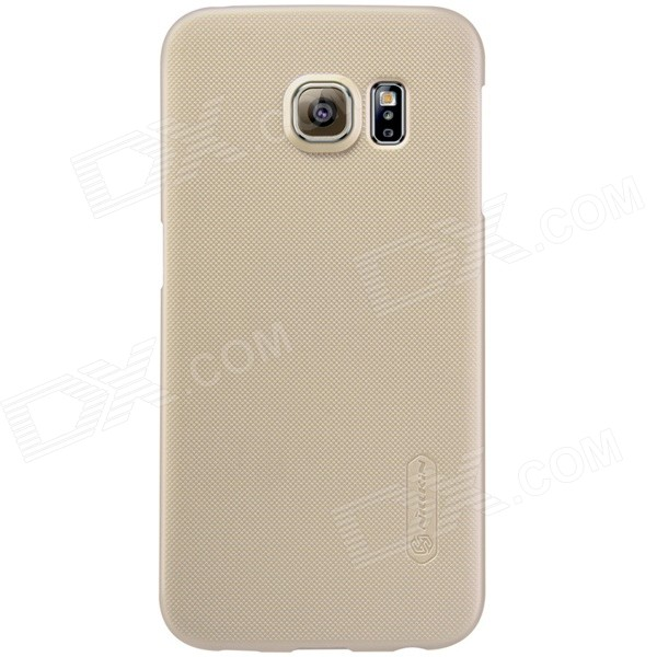 NILLKIN Plastic Back Case w/ Film for Samsung Galaxy S6 Edge - Golden