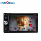 Rungrace 6.2-inch 2 Din TFT Screen In-Dash Car DVD Player w/ Bluetooth, RDS, ATV RL - Black