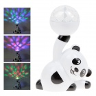 XL-11 Panda Design Colorful Light Magic Ball Party Stage Lamp w/ USB / TF Slot - White + Black