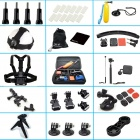 45-in-1 Outdoor Sports Accessories Kit for All Gopro Hero 4 / 3+ / 3 / 2 - Black