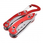 Portable & Durable Outdoor Multifunctional Combination Tool - Red + Silver