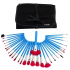32-in-1 Professional Makeup Beauty Brush Set - Blue + Deep Pink
