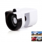 3-in-1 Macro + Wide Angle + Fish Eye Lens for IPHONE 6 / IPHONE 6 PLUS - White + Black