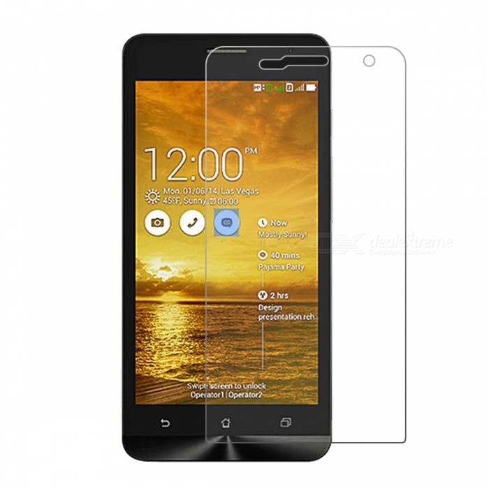 Mr.northjoe 0.3mm 2.5D 9H Tempered Glass Film Screen Protector for Asus ZenFone 5 - Transparent