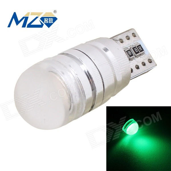 MZ T10 1.5W 500nm 90lm Decoded la lámpara verde del coche (12 ~ 18V)