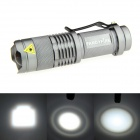 FANDYFIRE 1-Mode 400LM Zoomable Bright White Flashlight - Silvery Grey (1 x AA / 14500)