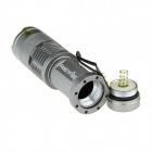 FANDYFIRE 400lm Zoomable White Flashlight - Silvery Grey (1*AA/14500)