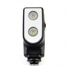 LED-5004 7W 300lm 6500K 2-LED Video Light w/ 2200mAh Lithium Battery and Charger Adapter