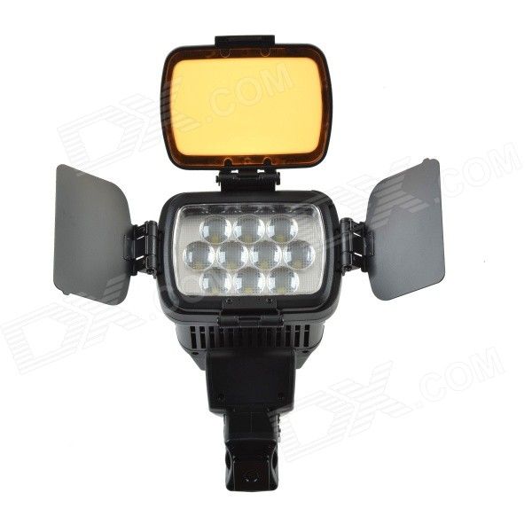 HVL-LBPB 20W 1800LM 10-LED Dual Color Temperature Battery Video Light